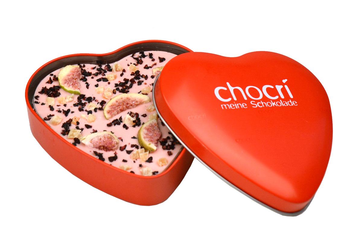 Verliebte Feige Herz Schokoladen Tafel Geschenk Dose