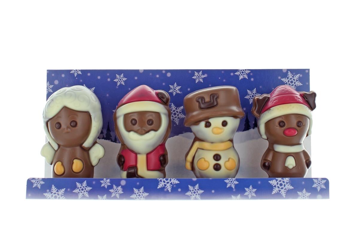 """chocri """"Vier Freunde"""" Weihnachts Schokoladen Figuren"""