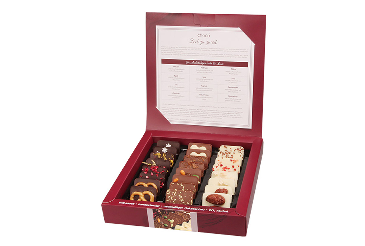 Zeit zu Zweit Mini Schokoladen Tafeln