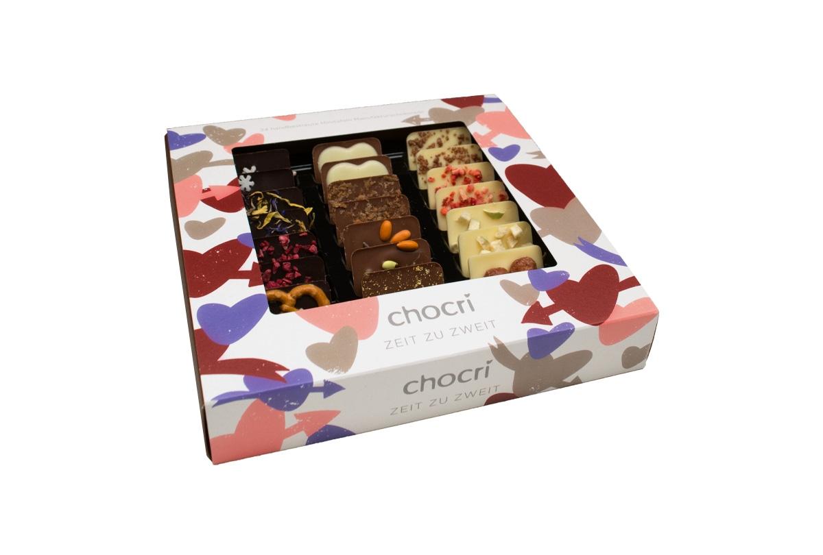 chocri Zeit zu zweit Mini Schokoladen Tafeln
