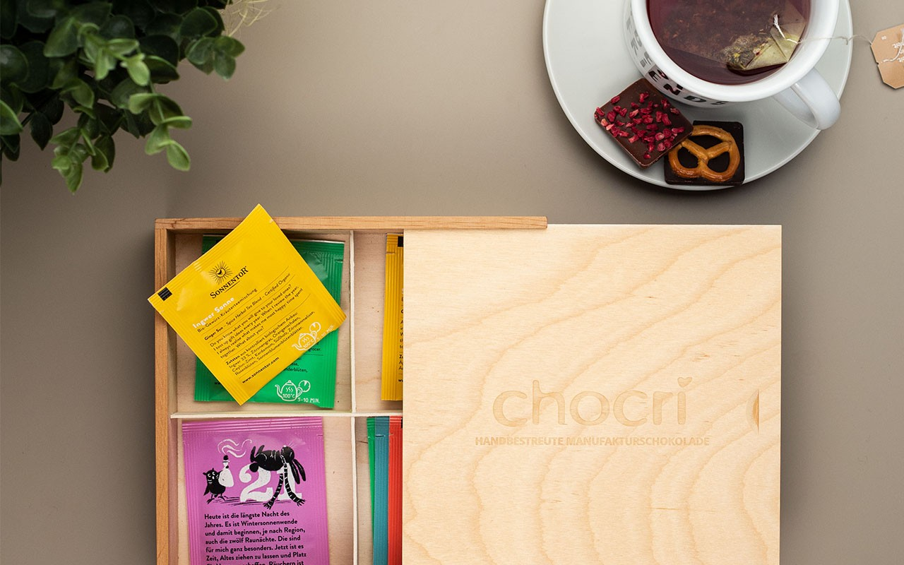 DIY Teebox- chocri Holz-Box upcyclen