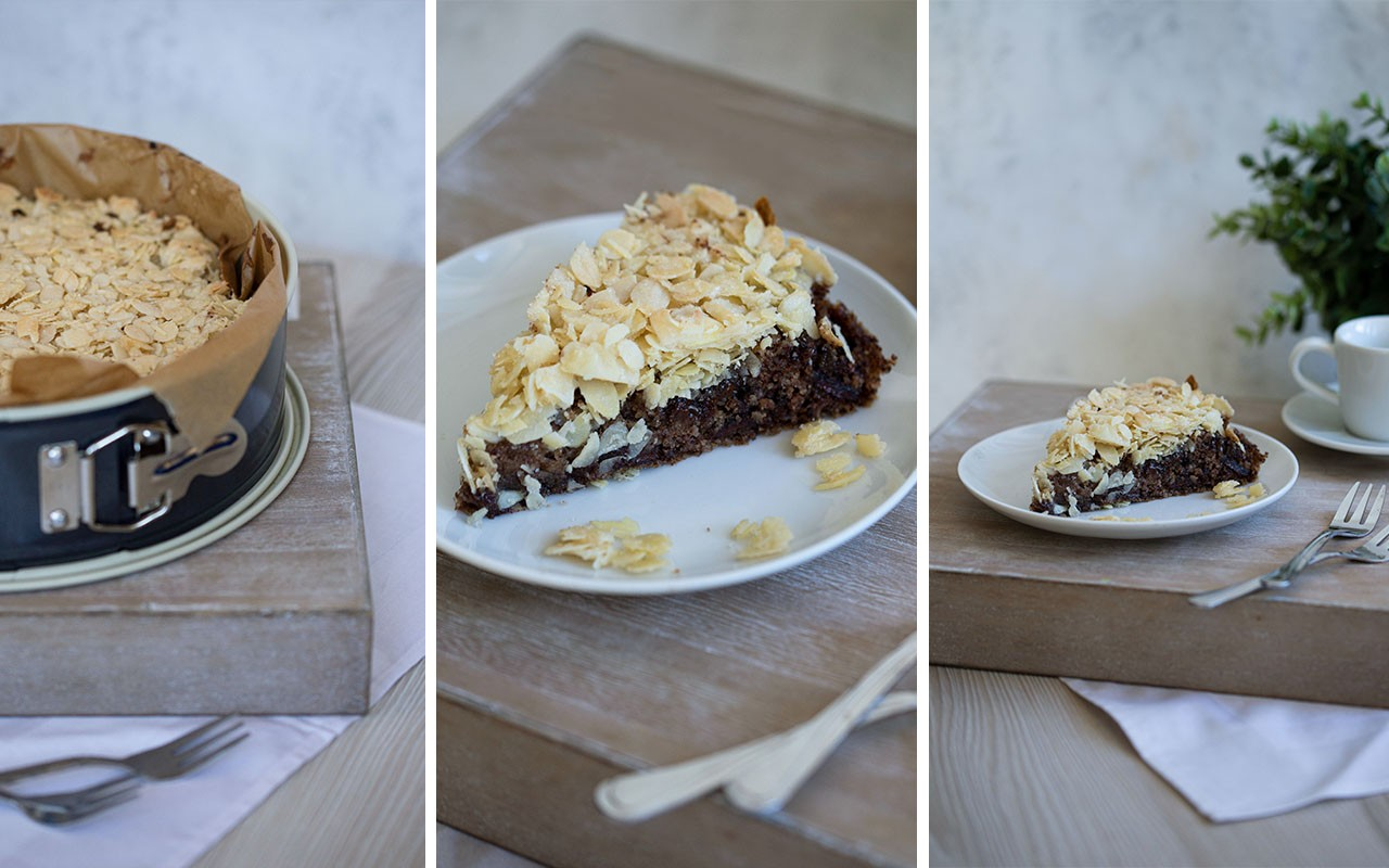 Veganer Schokoladen-Mandelkuchen