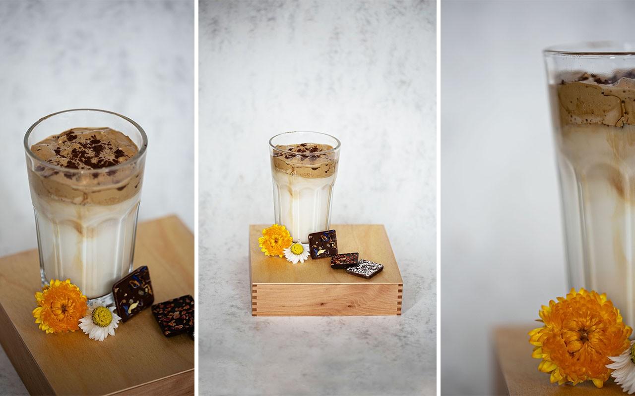 Dalgona-Schokoladen-Kaffee