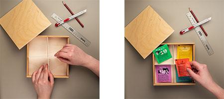 chocri Anleitung Upcycling Ideen Holzbox wird eine Teebox - Schritt 6 und Ergebnis