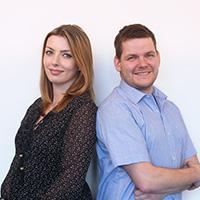 Eric Kunzmann und Denise Stuewe Fachhandel Team
