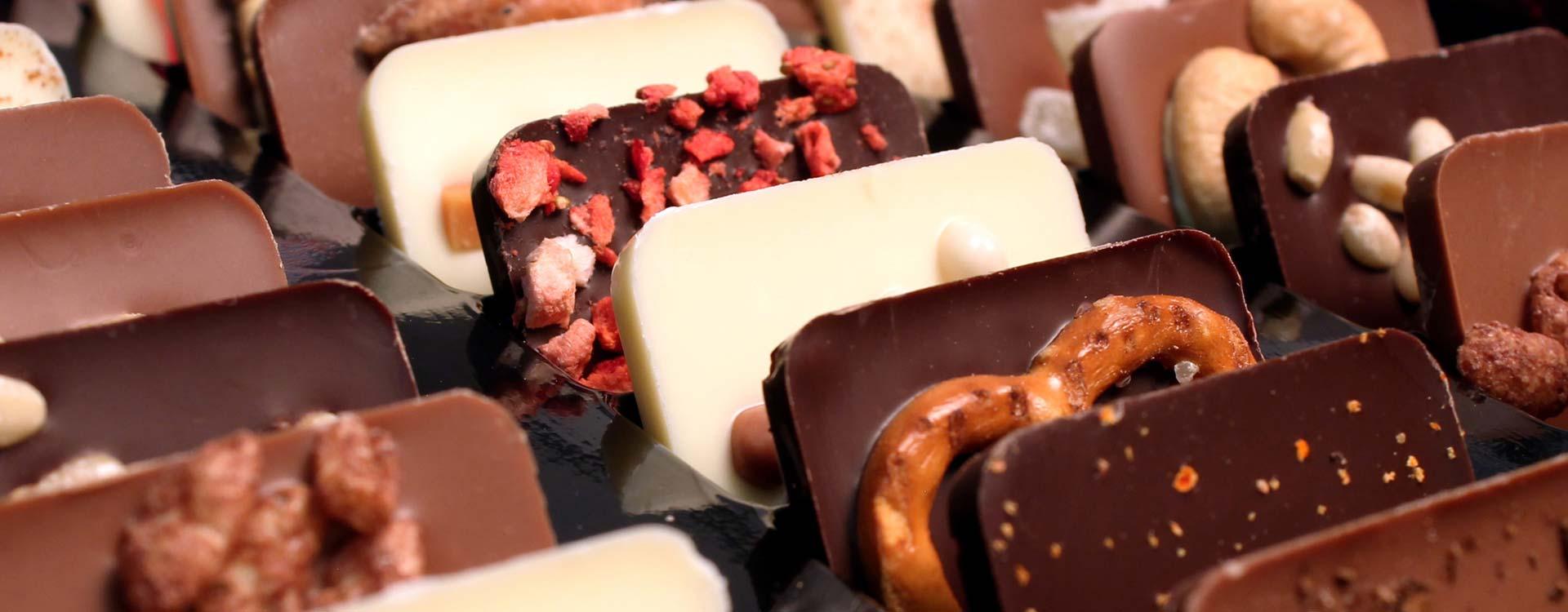 Minischokoladen von chocri in perfekter Form
