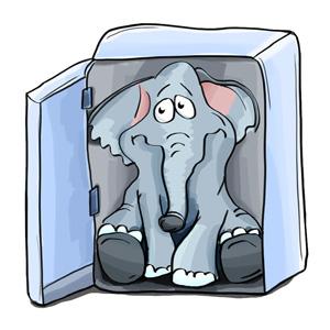 Schokolade und Elefanten gehören nur im Witz in den normalen Kühlschrank