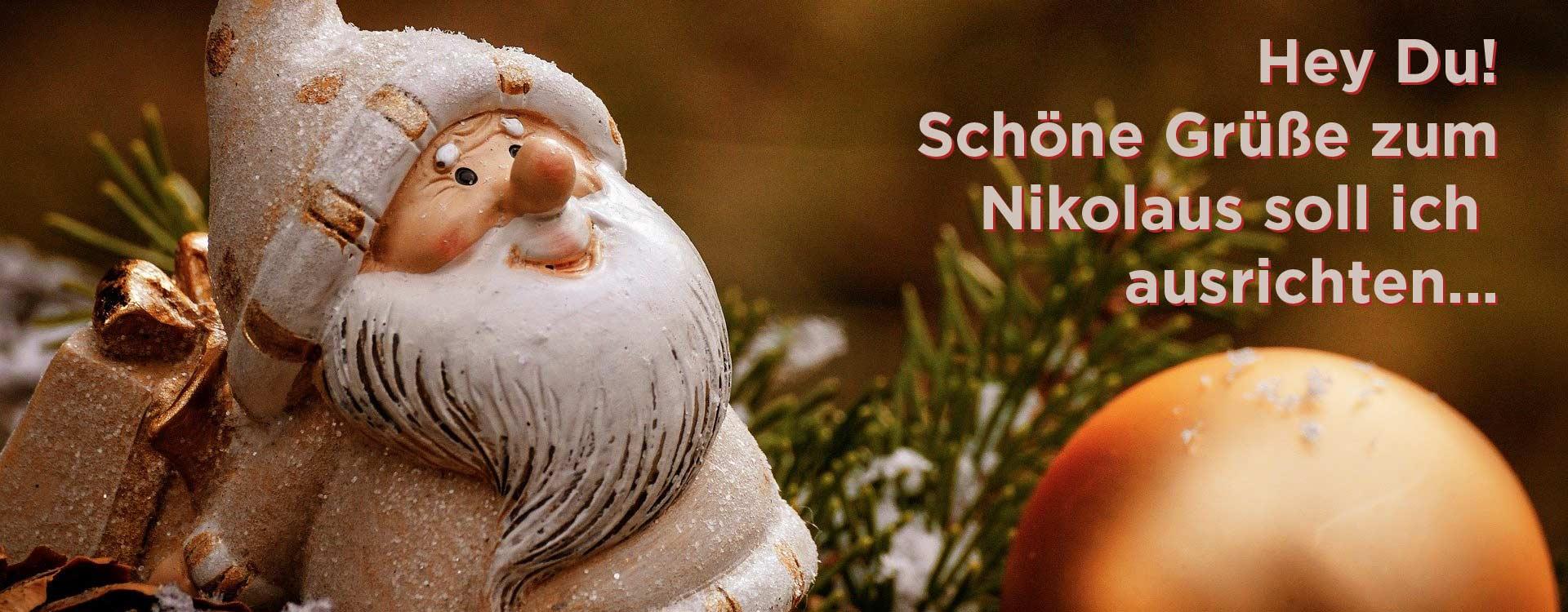 Nikolausgrüße und Sprüche machen Spaß und wünschen alles Liebe zum Nikolaus