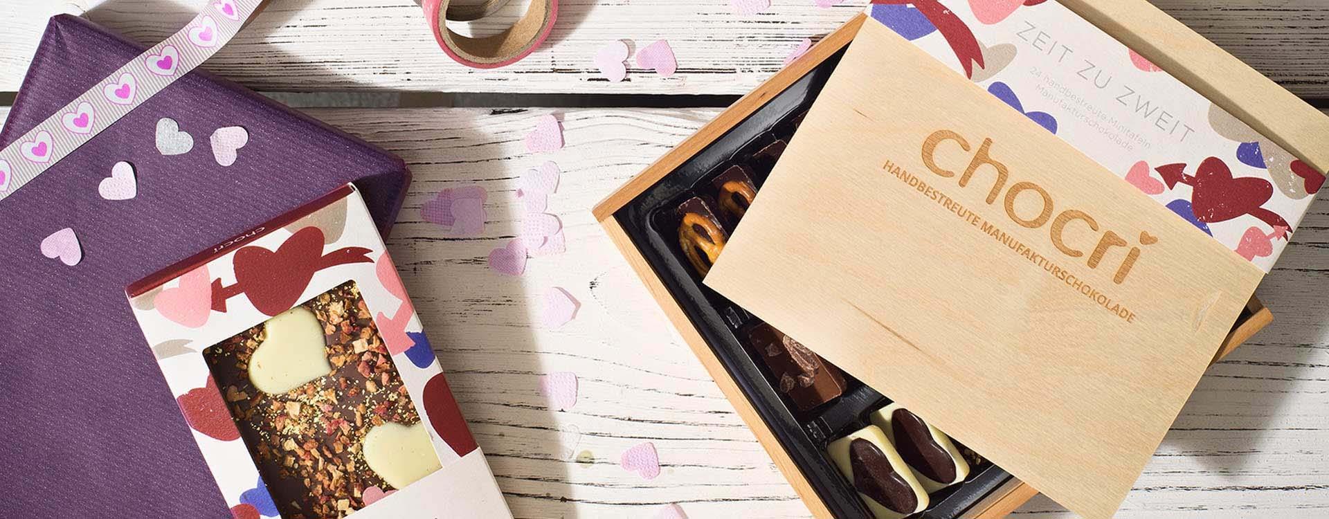 Leckerste Schokolade von chocri als Geschenk zum Valentinstag: Wir haben alles, was Deine bessere Hälfte sich wünscht!