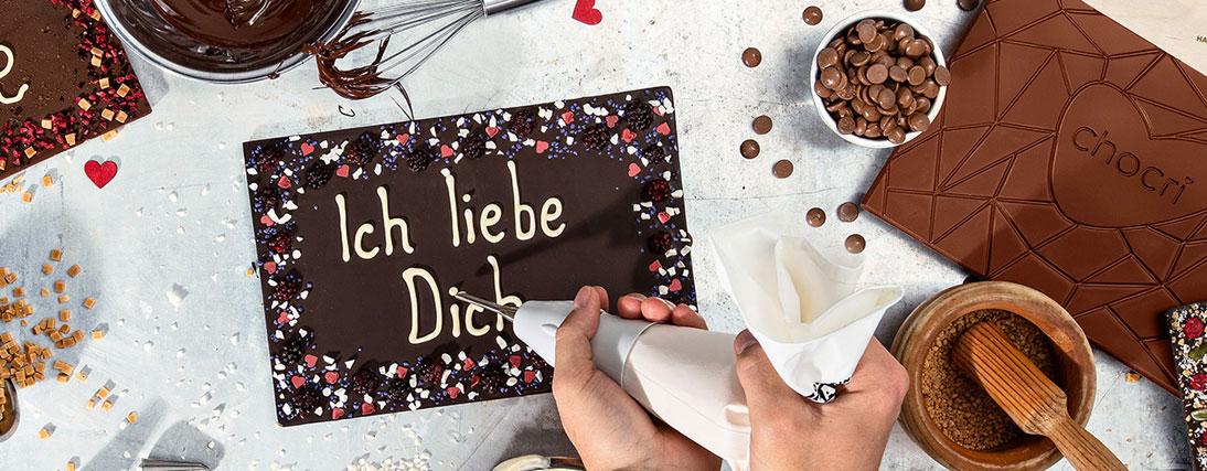 Die beste Idee zum Valentinstag ist neben Blumen und Liebe immer Schokolade...