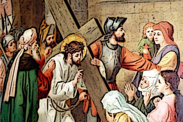 Der Kreuzweg Christi zur Hinrichtung auf dem Hügel Golgota: die Passion im Zentrum aller Geschichten zu Ostern