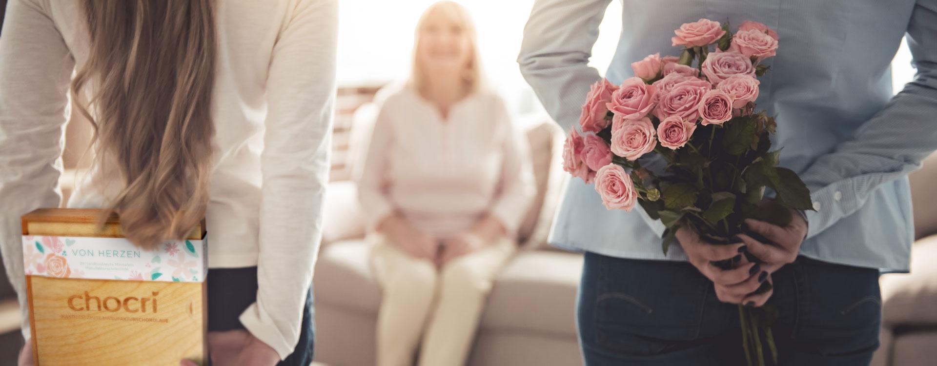 Geschenke aus Schokolade von chocri runden Muttertagsgedichte zum Muttertag perfekt ab