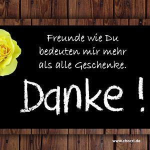 Sprüche zum Danke sagen: Freunde wie Du bedeuten mir mehr als alle Geschenke. Danke!