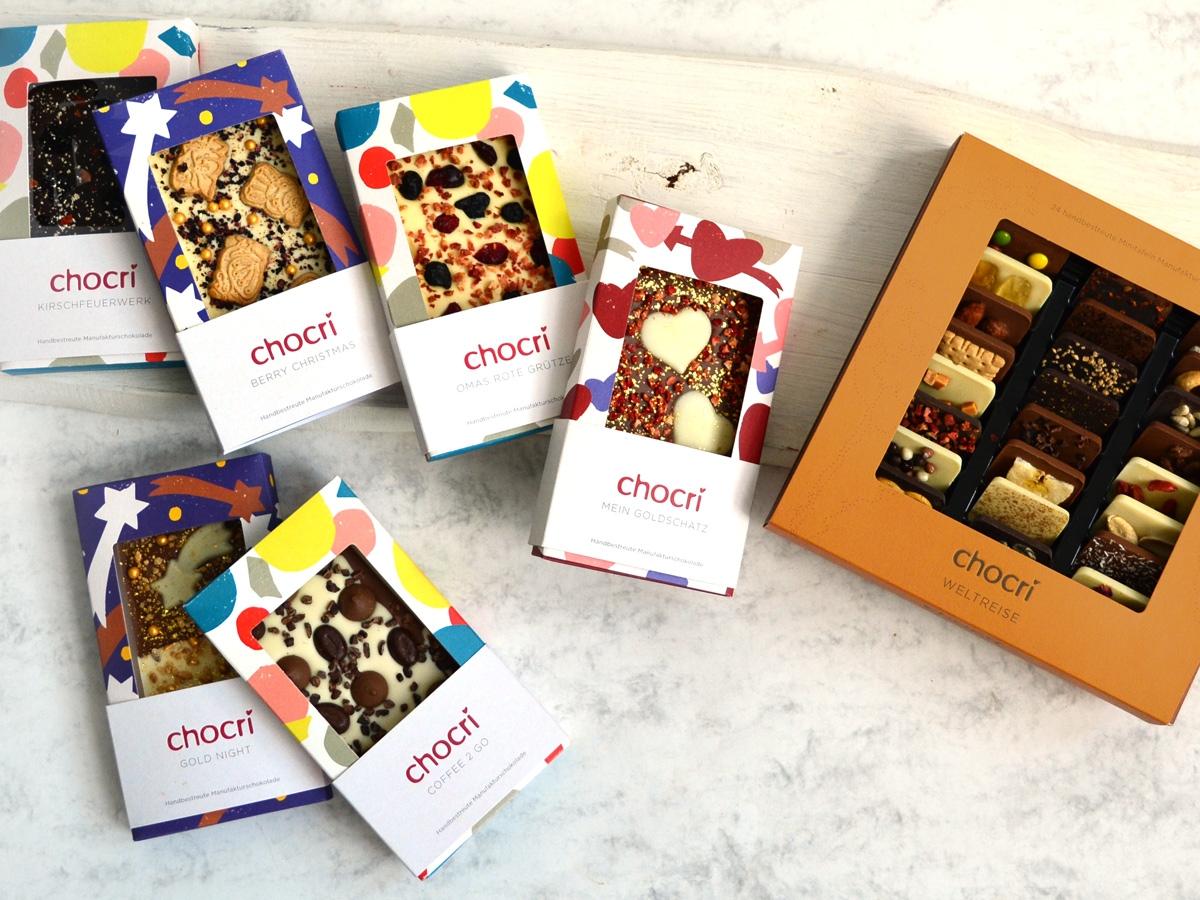 chocri Schokolade neue Verpackungen
