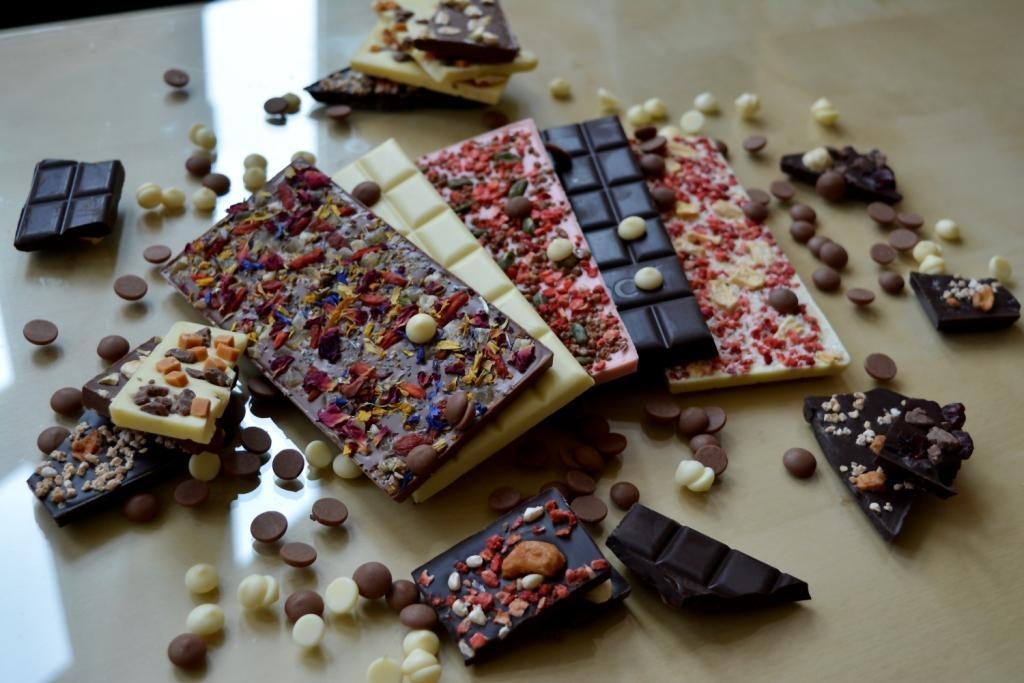 individuelle Schokolade dekorieren