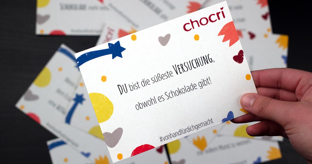 chocri Postkarte Du bist die suesste Versuchung,obwohl es Schokolade gibt!