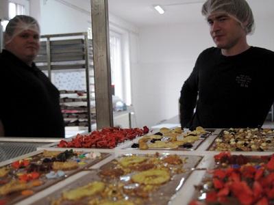 Michael Bruck & Franz Duge, Gründer der chocri GmbH, in der Manufaktur