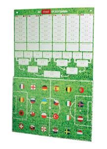 Der Schoko-Spielplan mit den 24 Ländertürchen, hinter denen sich originelle Schoko-Minitäfelchen verbergen