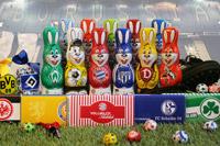Zusammen mit Fanshop Sweets bietet chocri nicht nur zu Ostern, sondern ganzjährig den vielleicht größten vereinsübergreifenden Schoko-Online-Shop für Fußballfans