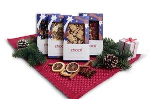 Zu Weihnachten gibt es ganz besonders festliche Tafel-Schokoladen bei chocri