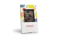 Die chocri-Tafel 'Kirschfeuerwerk' in der frech-frisch-lustigen neuen Standard-Verpackung