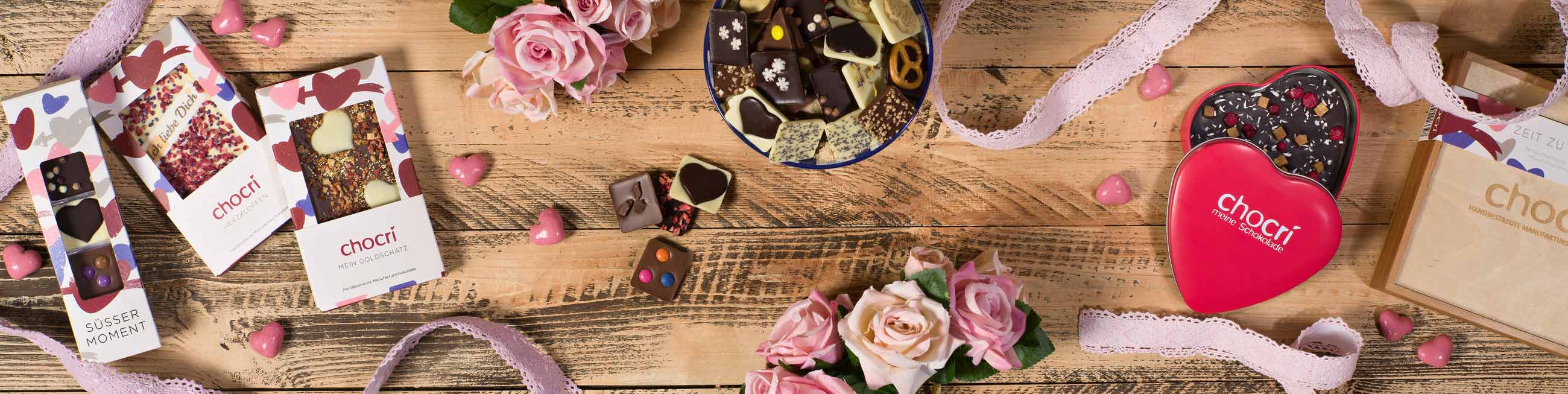 chocri Schokoladige Geschenk fuer den Valentinstag